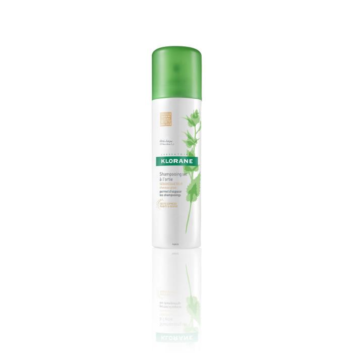Klorane suchý šampon s výtažkem z kopřivy pro tmavé vlasy  150 ml